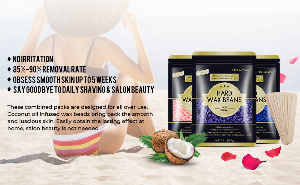hard wax beads for women men hair removal