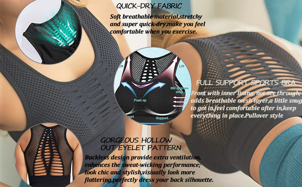 Full mesh openwork design, sweat-wicking through ventilation,greatly reduce uncomfortable  exercise