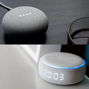 Compatible with smart assistants like Amazon echo and Google home