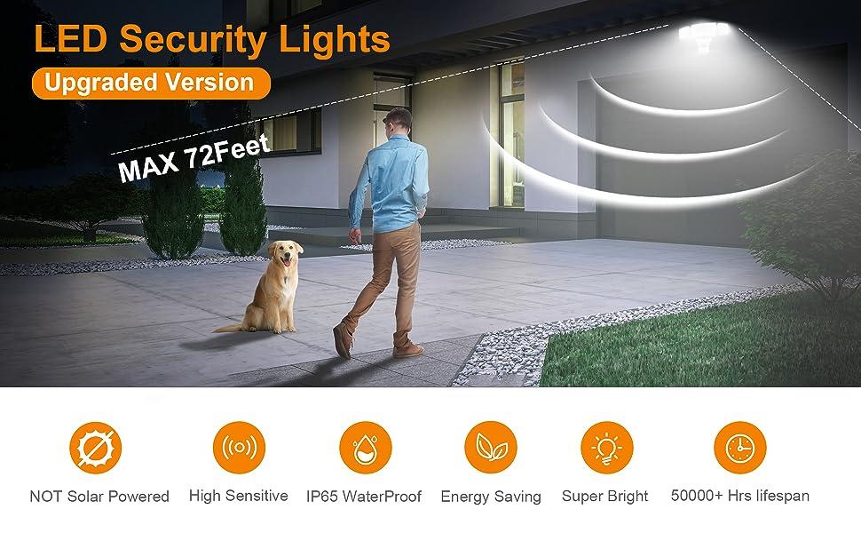 motion security lights outdoor, motion sensor security light, security lighting, motion lights