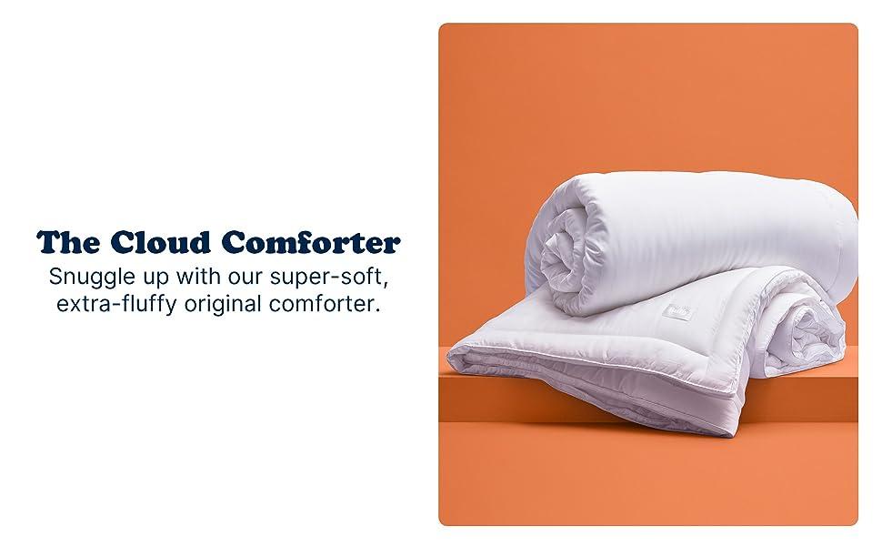 Original BUFFY California Cal King Soft Cloud Comforter Genuine Eucalyptus White