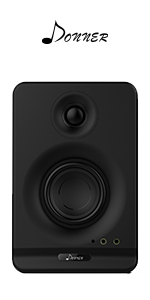 Donner Dyna3 3-Inch(Pair) Black