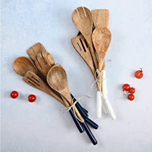 Wooden spoons for cooking, cookware set, kitchen utensil set, cooking utensils, wooden stir spoons