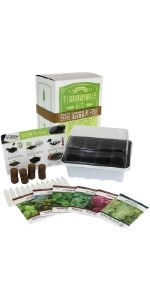 Culinary Indoor Herb Garden Starter Kit, Basic Herb Seeds