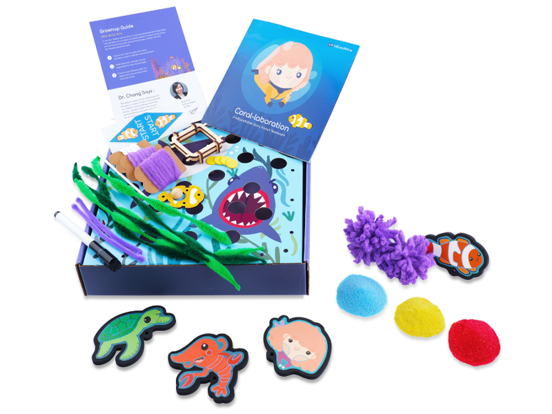 toy stem learning diy craft toys 5 year old 6 7 coral kiwico preschool gift osmo steam board game