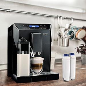 4 Filtros de Agua para Cafetera DeLonghi Filtro DLSC002 con Ablandador de Carbón Activado, Homegoo Filtro Compatible con DeLonghi ECAM, Esam, Etam, ...