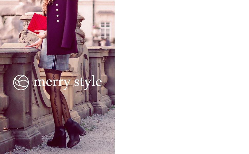 Merry Style Damen halterlose Str/ümpfe MS 209