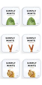 Peppermint, Ginger, Cinnamon Breath Mints