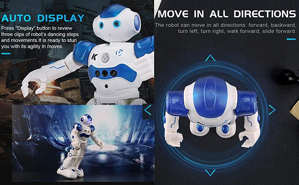 auto display robot toy walking robot