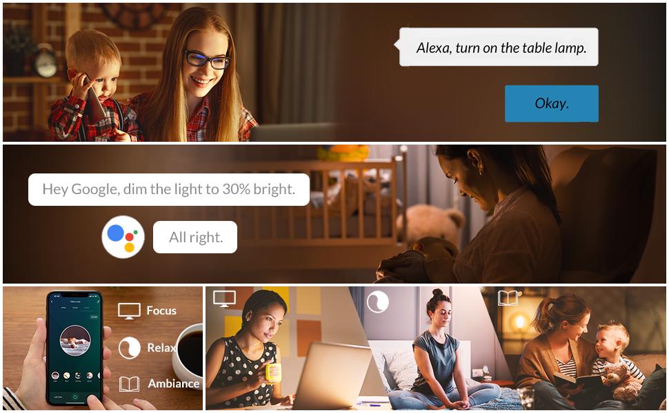 Smart led table lamp