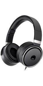 headphones black, headphones over ear