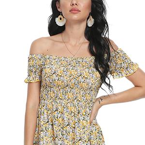 summer beach floral dress