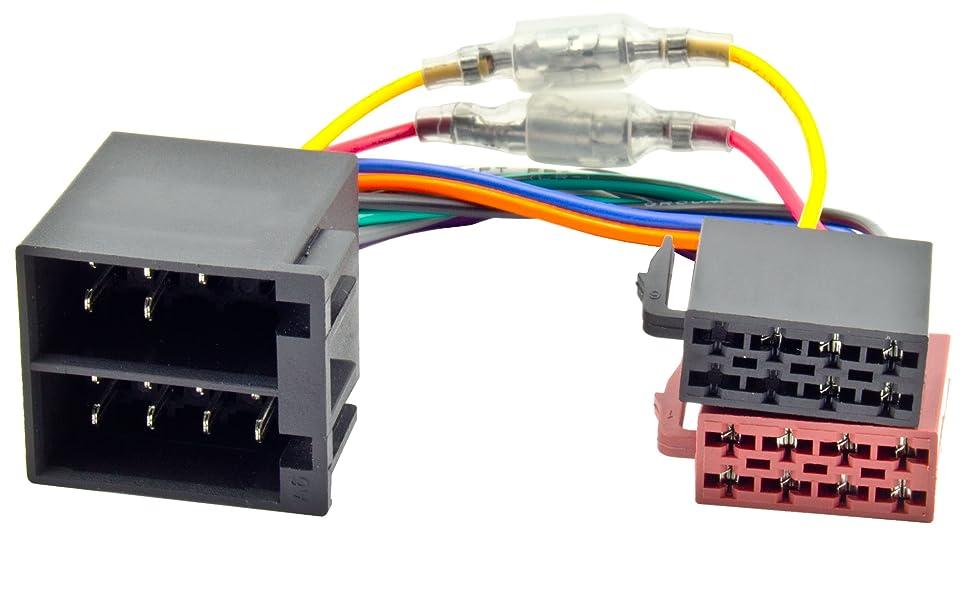 Kfz Iso Autoradio Adapter Schaltplus Dauerplus Variable Steckbar Auto