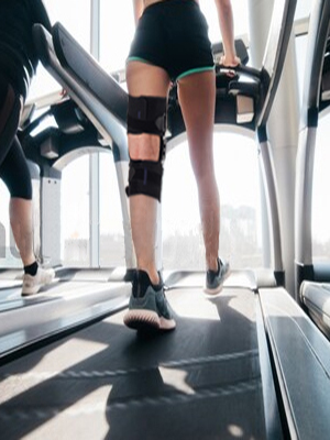 Stabilizing knee brace with Gel Patella Support