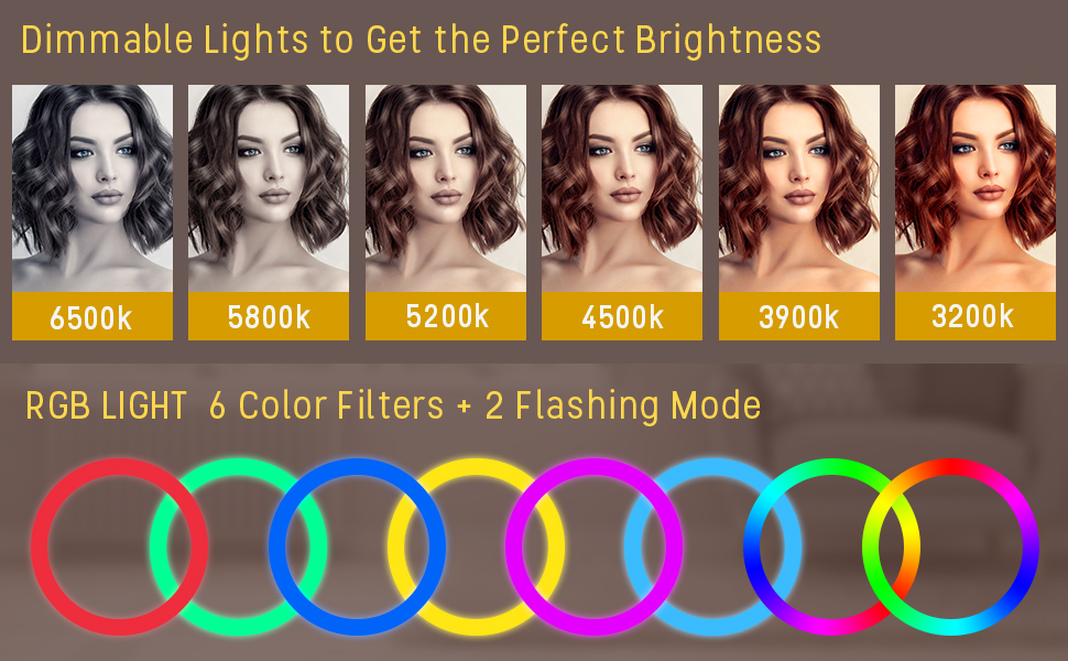 Brightness and color temperature adjustable