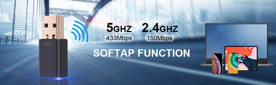 ac1200 mpcs wifi 5 dual band usb 3.0 adapter