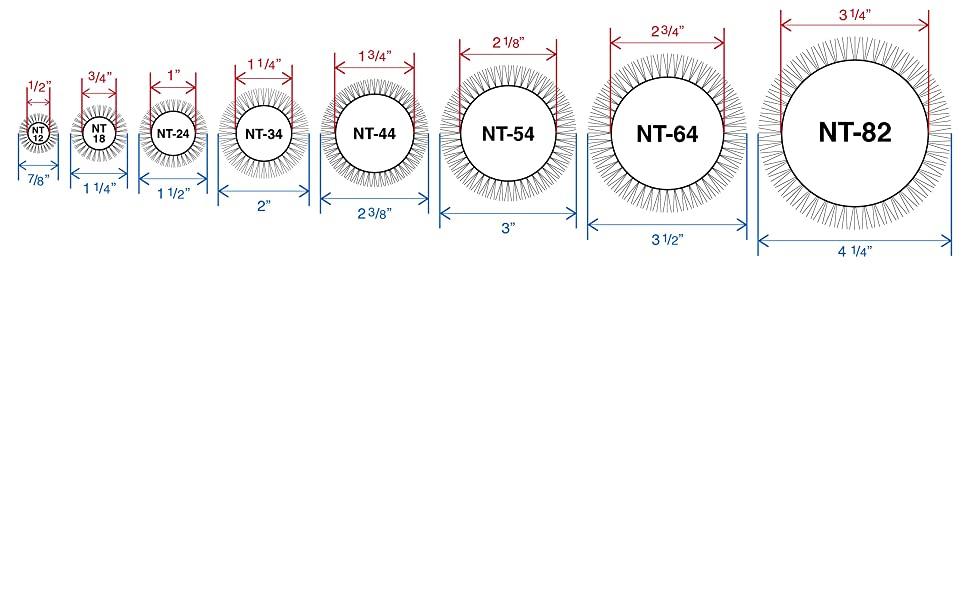 Barrel & Bristle Diameters