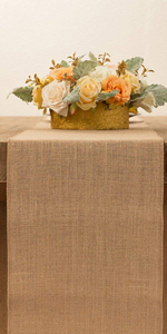 108inch Burlap table runner