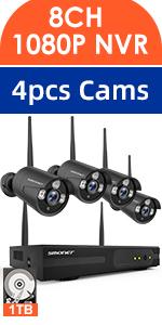 Amazon com : 【2019 Update】1080P Security Camera System