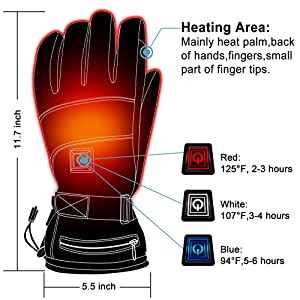 men women heated gloves for men women rechargeable battery heated gloves kit climbing hand warmer 2