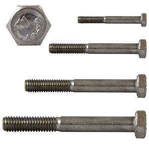 Stoppmuttern SC-Normteile/® 10 St/ück - SC931 // SC985 Edelstahl A2 - Maschinenschrauben Sechskantschrauben mit Schaft und Sicherungsmuttern - M8x65 - DIN 931 // DIN 985 V2A