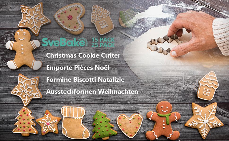 Ausstechform 9er Set Plätzchen Backen Gebäck-Ausstecher Kekse Weihnachten