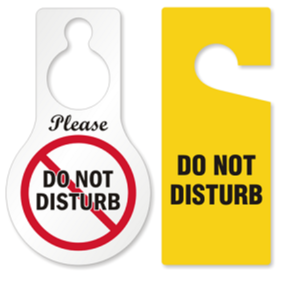 3.75 x 8.875 Plastic SmartSign/Evacuated Pack of 6 Claw Shaped Door Hanger Tags