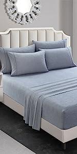 super soft sheet set blue