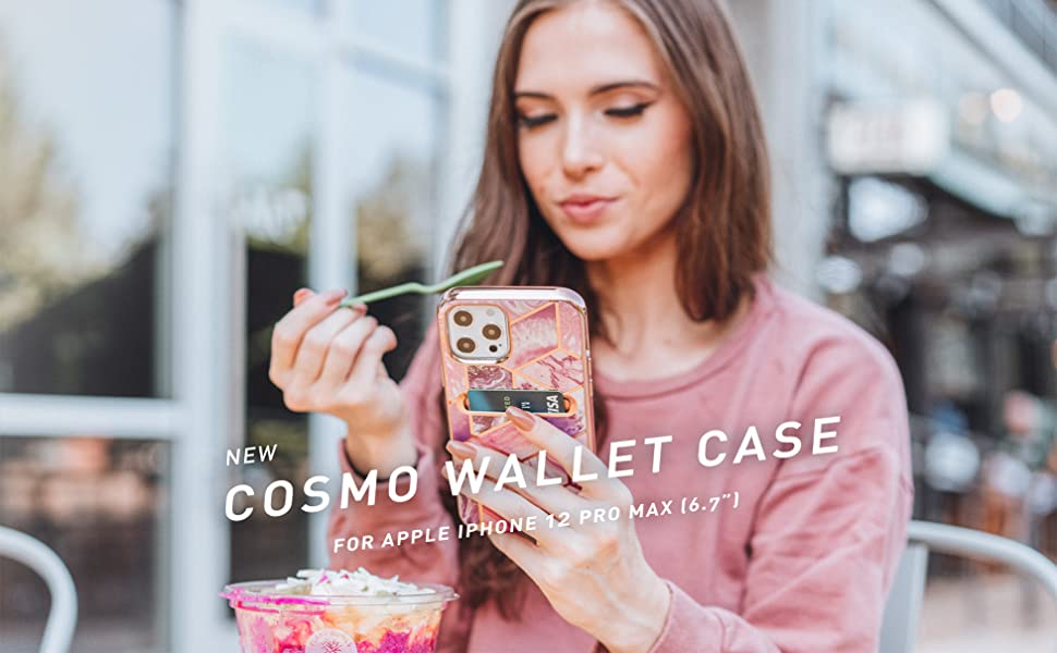 i-Blason Stylish Cosmo Wallet Case for iPhone 12 Pro Max 6.7 2020