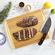 epicurean wood plastic meat fish chicken cooking prepping dining butcher block prepdeck grilling