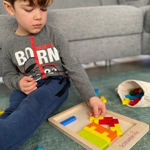 tetralino happy kids strong kids children baby boy girl wooden puzzle high quality materials premium