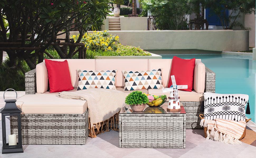 5 pieces patio furniture