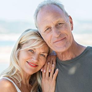 Attractive active happy senior couple