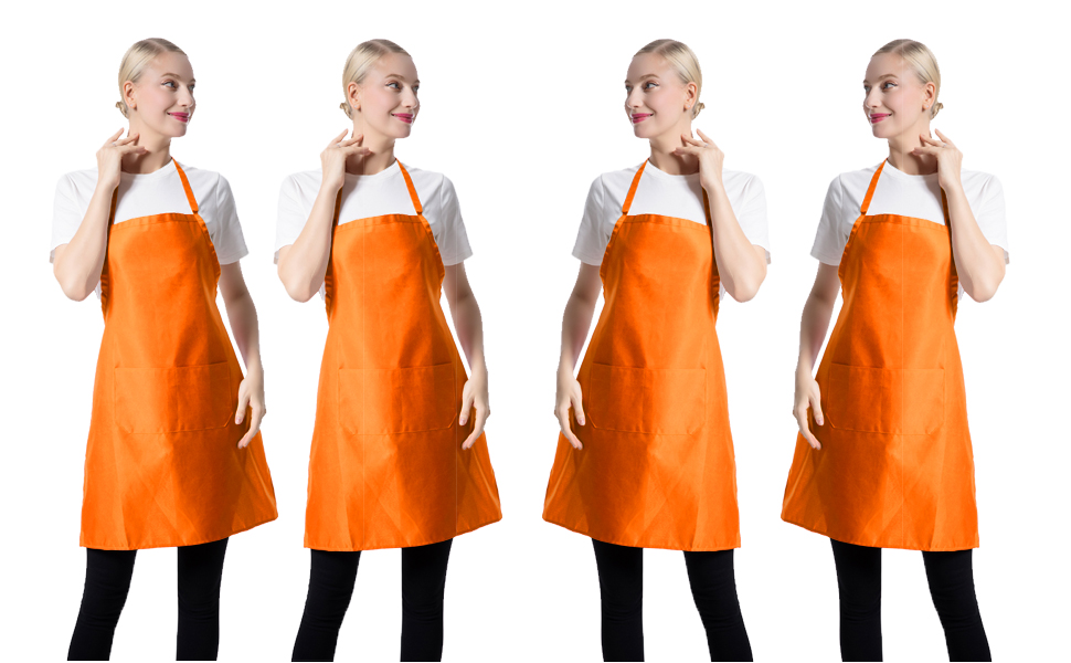 Cooks Up to Size 14 ORANGE FLOWER CHAIN Apron