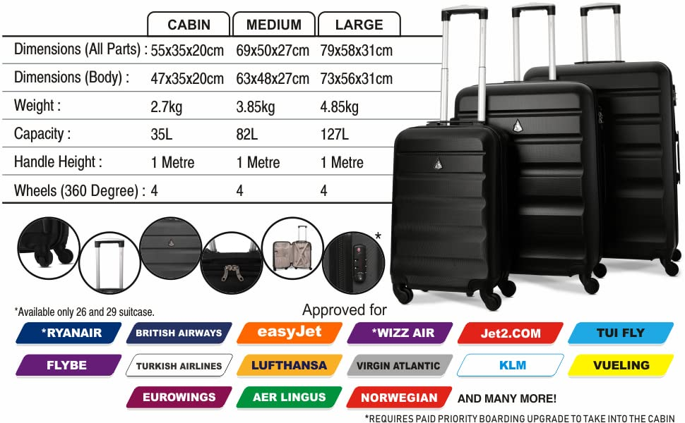 ABS325-BLACK-TSA-3PCS
