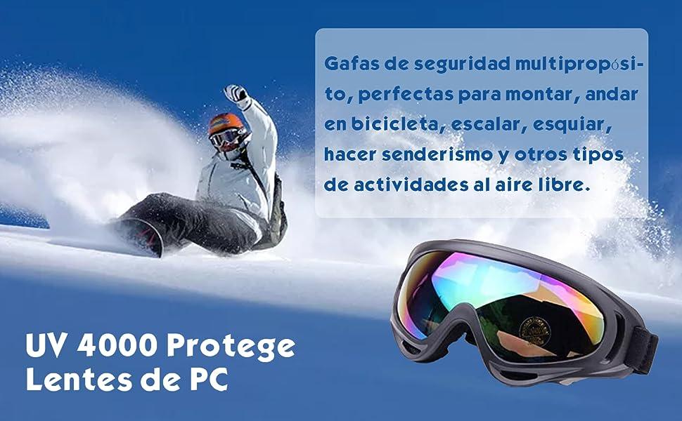 ValueHall Al aire libre a prueba de viento esquí gafas con protección UV, montar lentes CS ejército táctico gafas militares gafas de seguridad de la ...