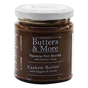 Natural Cashew Butter vegan unsweetened keto dairy free spread chocolate blueberry jam jaggery