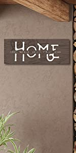 Home Familoy SIgn Woodgrain Option Large Block Mount Size