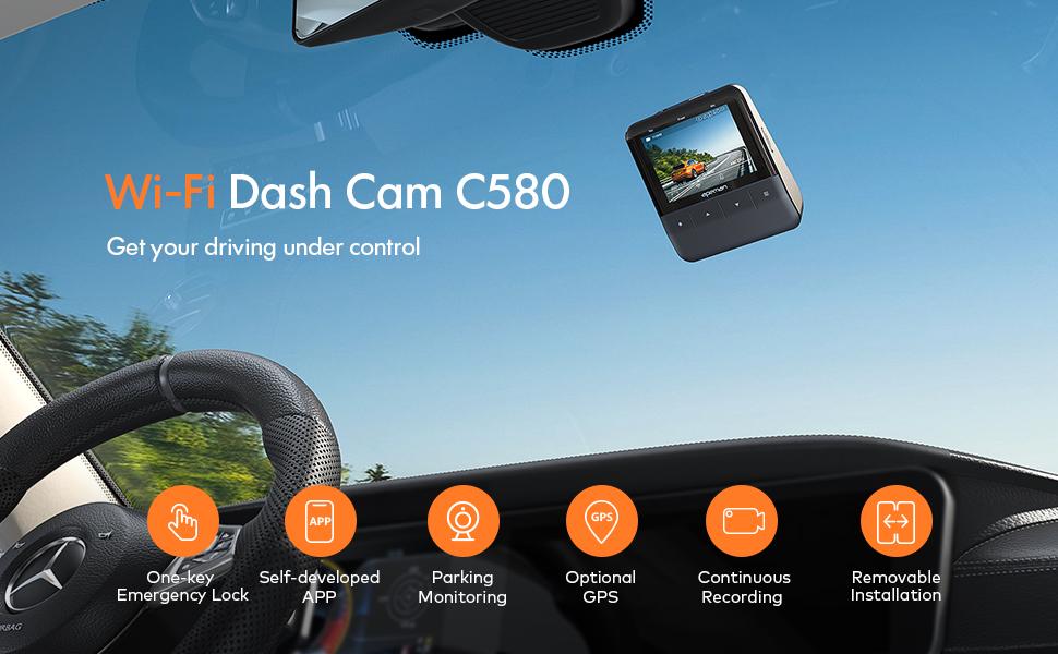WiFi Dash Cam C580