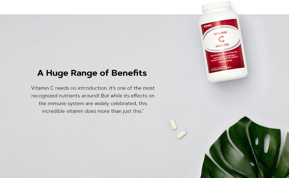 A Huge Range of Benefits. Vitamin C needs no introduction