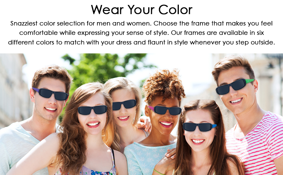 Wraparound glasses with comfortable fit