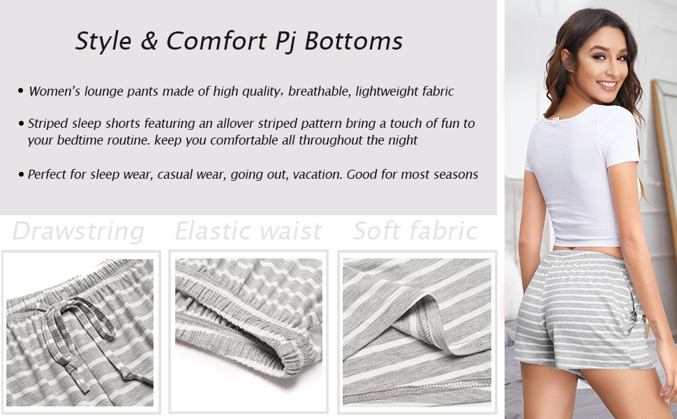 Pajama shorts, lounge shorts, women pajama pants
