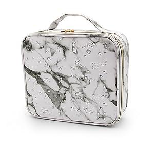 marble makeup organizer case