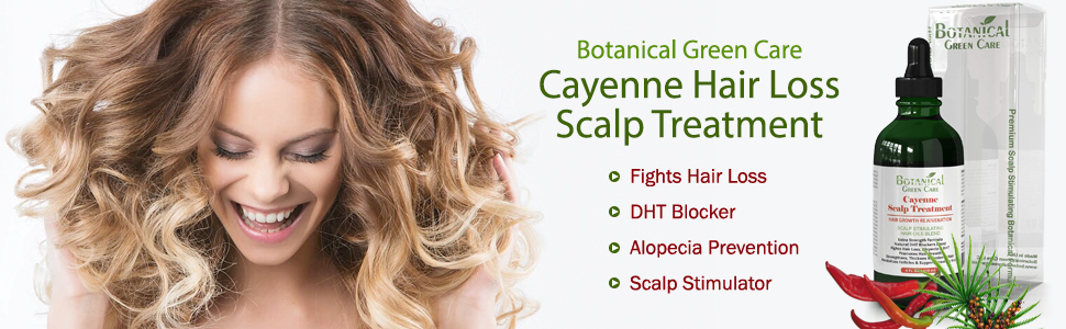 Cayenne Hair Loss Scalp Treatment  DHT Blocker, Organic Hair Growth Oil For  Hair Thinning