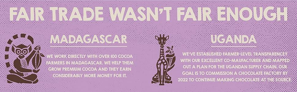 fair trade, uganda chocolate, madagascar chocolate