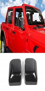 Black Premium Side Mirror Set for 2018 Jeep Wrangler JL//JLU J0048085