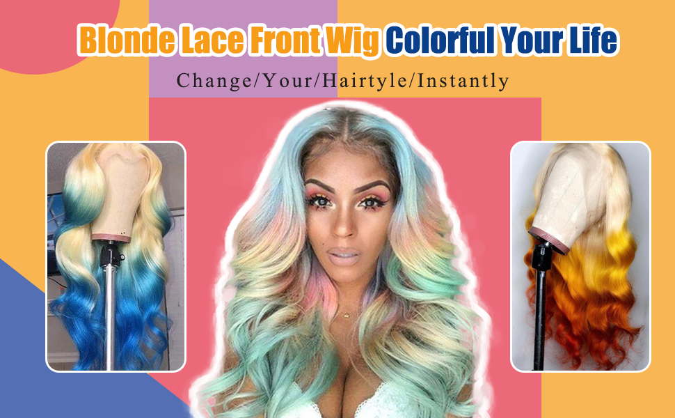 blonde 613 lace front wigs 13x6 deep part for black women