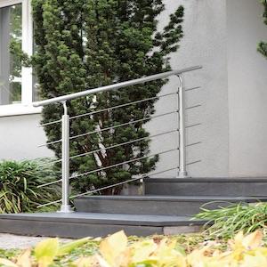 RAL 7016 3 Pfosten 1 Meter 4 F/üllst/äbe Edelstahl Inkl Buche Montagematerial 1 Handlauf Br/üstungsgel/änder f/ür Mittelholmtreppe Boston |/Gel/änder Erg/änzungs-Set lackiert |/Pfosten Anthrazit