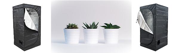 グロウボックス グロウテント 水耕栽培 室内栽培 温室栽 組み立て簡単