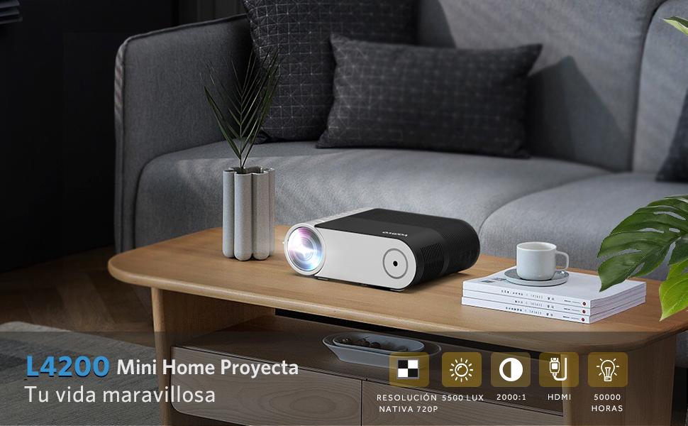Vamvo Proyector Full HD Mini Proyector L4200